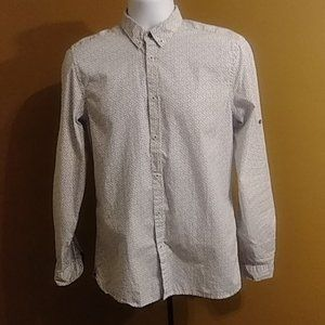 Zara man slim fit button down shirt size medium